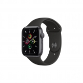 Apple Watch SE 44mm GPS Space Gray Aluminum Case with Black Sport Band (MYDT2)