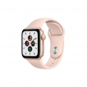 Apple Watch SE 44mm GPS Gold Aluminum Case with Pink Sand Sport Band (MYDR2)