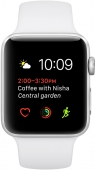Часы  Apple Watch Series 2 42mm Silver Aluminum Case with White Sport Band (MNPJ2)