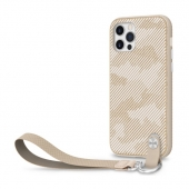 Чехол накладка Moshi Altra Slim Case with Wrist Strap for iPhone 12 Pro Max, Sahara Beige (99MO117308)