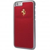 Чехол Ferrari GTB Perforated Leather Hard Case Gold Logo for iPhone 6/6S
