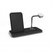 Беспроводное зарядное устройство Zens Stand + Dock + Watch Aluminium Wireless Charger 10W Black (ZEDC07B/00)