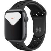 Б/У Apple Watch Nike Series 5 44mm Space Grey Aluminium Case with Anthracite Black Nike Sport Band (MX3W2) - витринный вариант