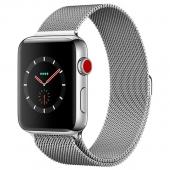 Apple Watch Series 3 42mm GPS+LTE Stainless Steel Case with Milanese Loop (MR1J2)