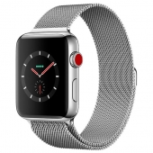 Apple Watch Series 3 42mm GPS+LTE Stainless Steel Case with Milanese Loop (MR1J2)