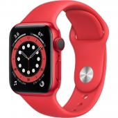 Apple Watch Series 6 GPS + Cellular 40mm (PRODUCT)RED Aluminum Case w. (PRODUCT)RED Sport B. (M02T3)