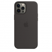 Apple Silicone Case with MagSafe for iPhone 12 Pro Max, Black 1:1