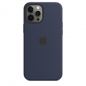 Apple Silicone Case with MagSafe for iPhone 12 Pro Max, Deep Navy 1:1