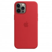 Apple Silicone Case with MagSafe for iPhone 12 Pro Max, Product Red 1:1