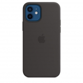 Apple Silicone Case with MagSafe for iPhone 12/12 Pro, Black 1:1