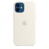 Apple Silicone Case with MagSafe for iPhone 12/12 Pro, White 1:1