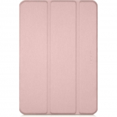 Macally Protective Case and Stand Brown for iPad 10.2, Rose Gold (BSTAND7-RS)