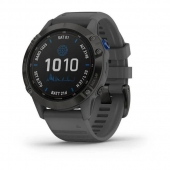 Смарт-часы Garmin Fenix 6 Pro Solar Edition Black With Gray Band (010-02410-11)