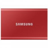 SSD накопитель Samsung T7 1 TB Red (MU-PC1T0R/WW)