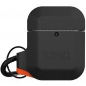 UAG Silicone Case for Airpods, Black/Orange