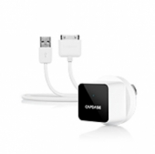 Capdase USB Power Adapter&Cable Atom Plug White (1 A) for iPhone/iPod/iPad (TKII-A02G-EU)