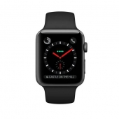 Apple Watch Series 3 GPS + Cellular 38mm Space Black Stainless Steel with Black Sport Band (MQJW2)