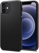 Spigen Liquid Air Case for iPhone 12/12 Pro, Matte Black (ACS01701)