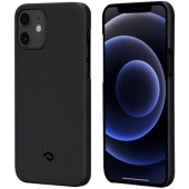 Pitaka MagEZ Case for iPhone 12 Mini, Plain Black/Grey (KI1202)