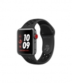 Apple Watch Series 3 Nike+ 42mm GPS + LTE Gray Aluminum Case w. Black Nike Sport B. (MTGW2)