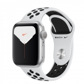 Apple Watch Series 5 Nike (GPS) 40mm Silver Aluminium Case with with Pure Platinum/Black Nike Sport Band (MX3R2)