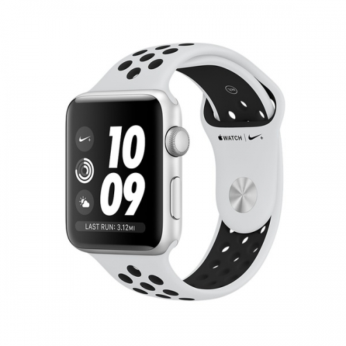 Apple Watch Series 3 Nike+ 42mm GPS Silver Aluminum Case with Pure Platinum/Black Nike Sport Band (MQL32)