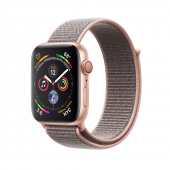 Смарт-часы Apple Watch Series 4 GPS + LTE 44mm Gold Alum. w. Pink Sand Sport l. Gold Alum. (MTV12, MTVX2)