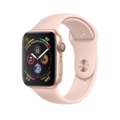 Apple Watch Series 4 44mm GPS Gold Aluminum Case with Pink Sand Sport Band