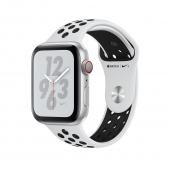 Apple Watch Nike+ Series 4 GPS + LTE 40mm Silver Alum. w. Platinum/Black Nike Sport b. Silver Alum. (MTV92