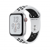 Apple Watch Nike+ Series 4 GPS + LTE 40mm Silver Alum. w. Platinum/Black Nike Sport b. Silver Alum. (MTV92