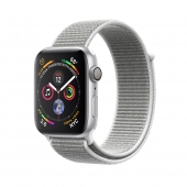 Apple Watch Series 4 44mm GPS Silver Aluminum Case with Seashell Sport Loop