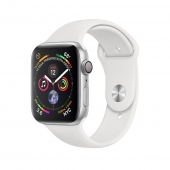 Apple Watch Series 4 GPS 44mm Silver Aluminum Case with White Sport Band (MU6A2)