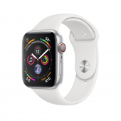 Б/У Apple Watch Series 4 GPS + LTE 40mm Silver Case Aluminium with White Sport Band(MTUD2, MTVA2) - идеал 5/5