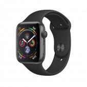 Apple Watch Series 4 44mm GPS Space Gray Aluminum Case with Black Sport Band