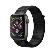 Apple Watch Series 4 GPS 44mm Space Gray Aluminum Case with Black Sport Loop (MU6E2)