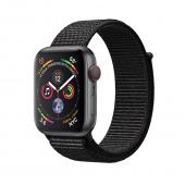 Смарт-часы Apple Watch Series 4 GPS + LTE 44mm Gray Alum. w. Black Sport l. Gray Alum. (MTUX2, MTVV2) - Акция