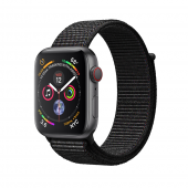 Apple Watch Series 4 GPS + LTE 44mm Gray Alum. w. Black Sport l. Gray Alum. (MTUX2, MTVV2)