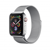Apple Watch Series 4 44mm GPS+LTE Stainless Steel Case with Milanese Loop (MTV42, MTX12)