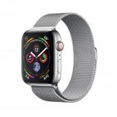 Смарт-часы Apple Watch Series 4 44mm GPS+LTE Stainless Steel Case with Milanese Loop (MTV42, MTX12)