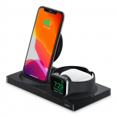 Belkin BOOST CHARGE 3-in-1 Wireless Charger for iPhone + Apple Watch + AirPods, Black
