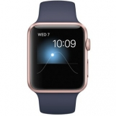 Часы Apple Watch Series 2 42mm Rose Gold Aluminum Case with Midnight Blue Sport Band (MNPL2)