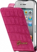 GUESS Croco mat flip case for iPhone 4