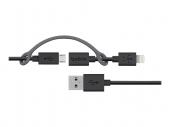Кабель Belkin Cable 2 in 1 Apple Lighting and Micro USB 0.9M