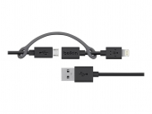 Кабель Belkin Cable 2 in 1 Apple Lighting and Micro USB 0.9M