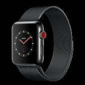 Apple Watch Series 3 42mm GPS+LTE Space Black Stainless Steel Case with Space Black Milanese Loop (MR1V2)