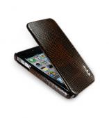 NavJack Vellum series leather flip case for iPhone 4S