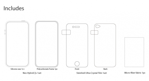 SGP Neo Hybrid 2S Snow Infinity White - iPhone 4/4S