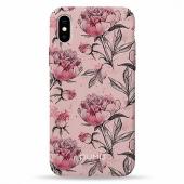 Чехол Pump Plastic Fantastic Case for iPhone X/XS Pink Pionies