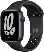 Apple Watch Nike Series 7 GPS 45mm Midnight Aluminum Case w. Anthracite/Black Nike Sport Band (MKNC3)
