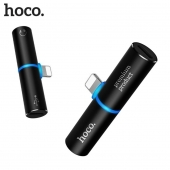 Переходник Hoco LS7 Tower Lightning to 2x Lightning Adapter Black